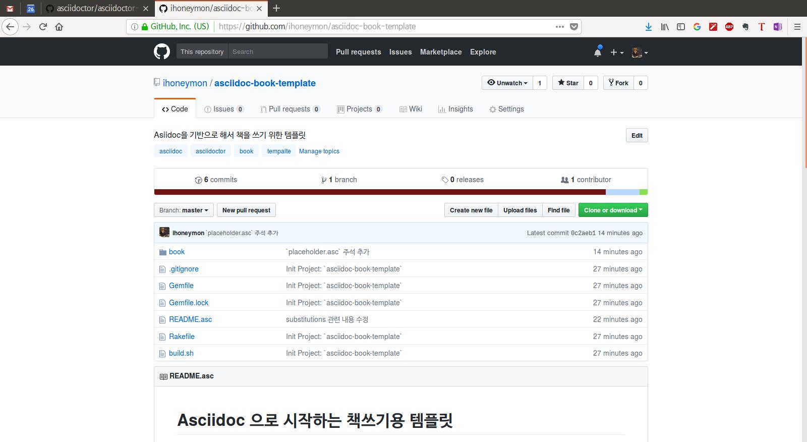 Project: asciidoc-book-template