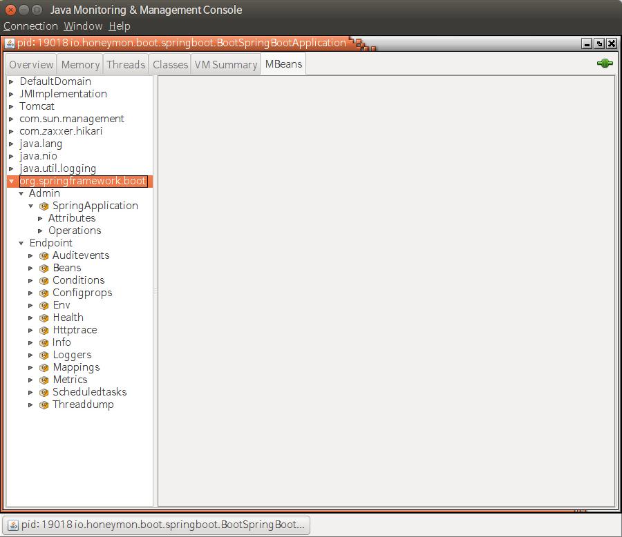 BootSpringBootApplication에서 노출된 MBean 항목들