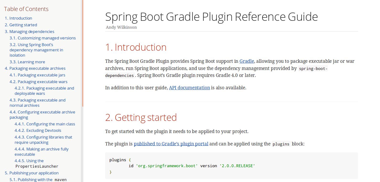 Spring Boot Gradle plugin Guide