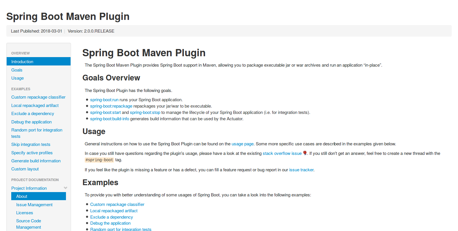 Spring Boot Maven plugin Guide